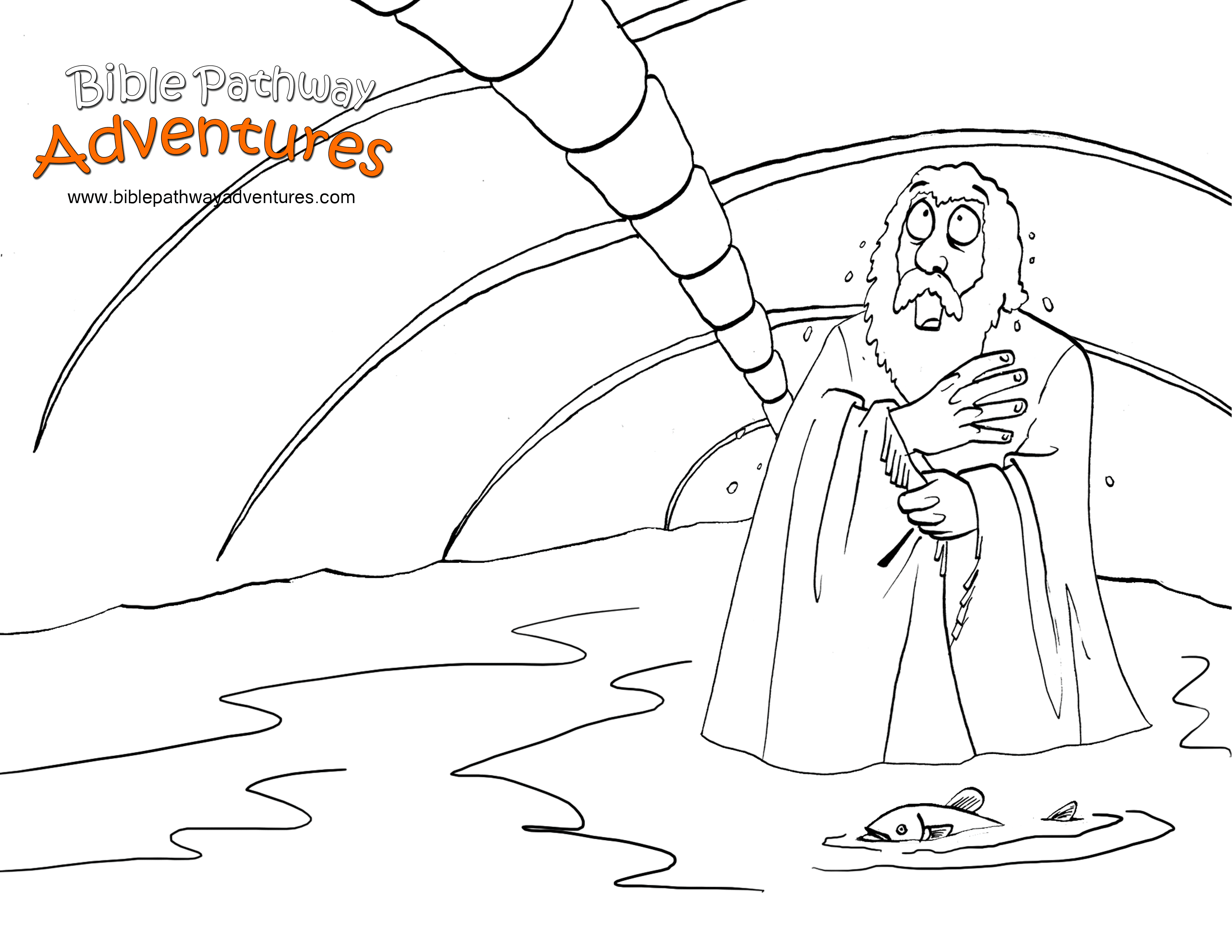 Jonah Bible Story Coloring Pages Coloring Pages