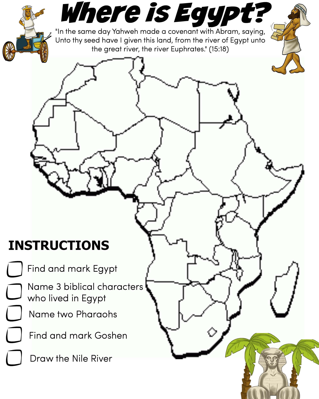 Bible Worksheet Egypt 3 Wk Bible Pathway Adventures