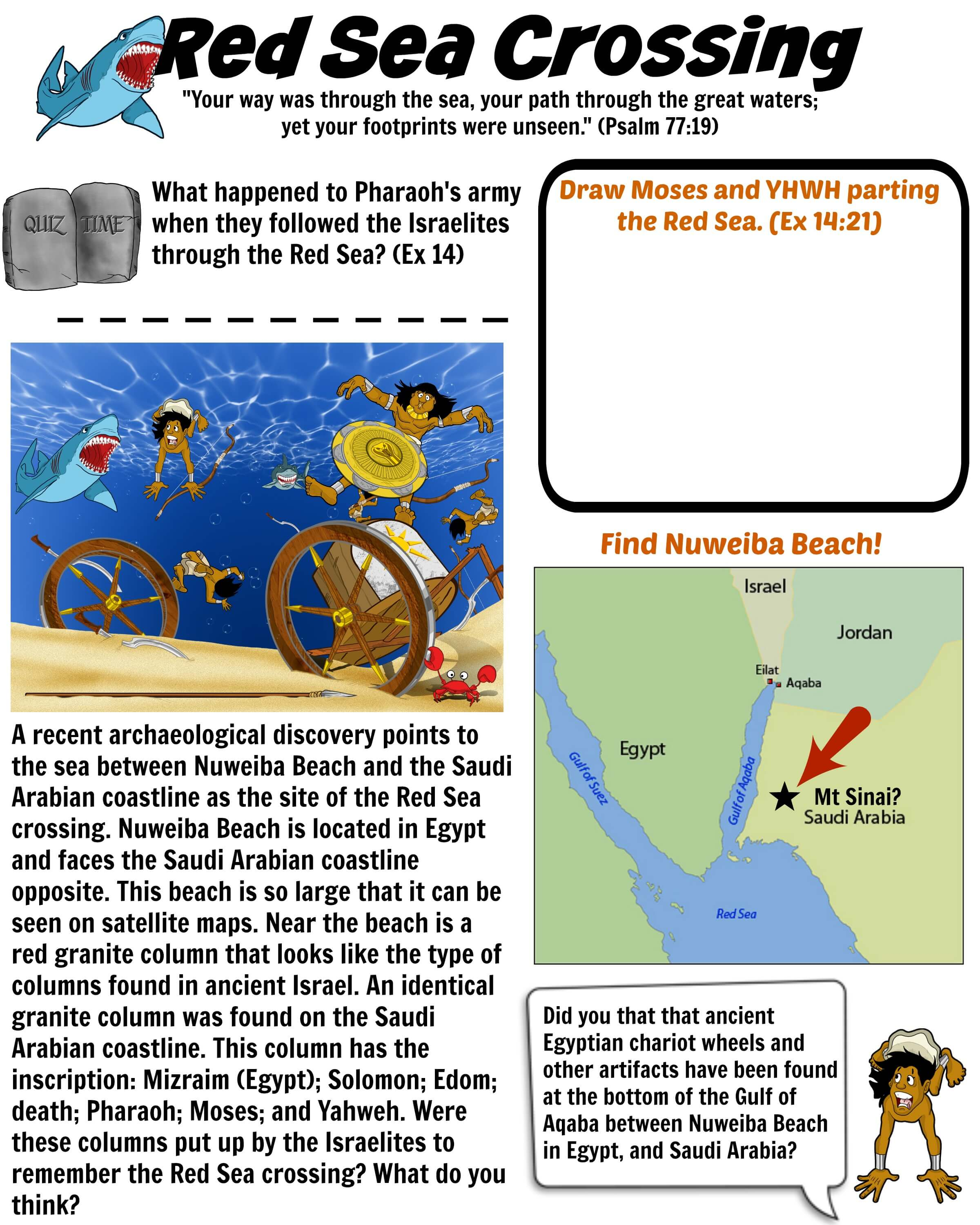 Red Sea Crossing Worksheet Bible Pathway Adventures