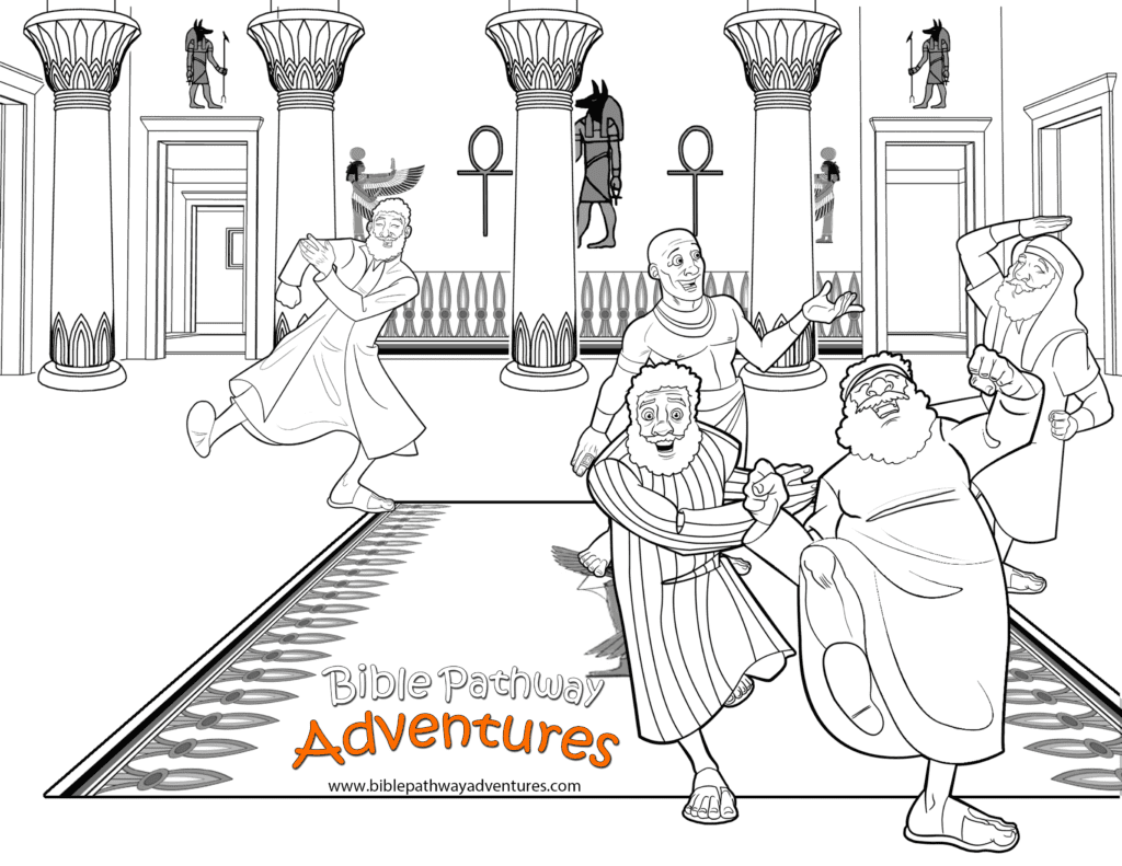 Free Bible Coloring Page Joseph Reunited With Brothers