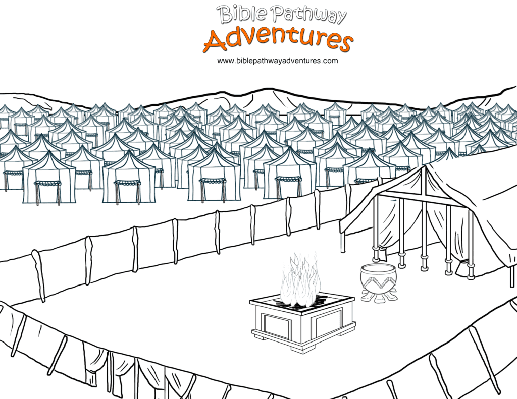 Free Bible Coloring Page Tabernacle In The Wilderness