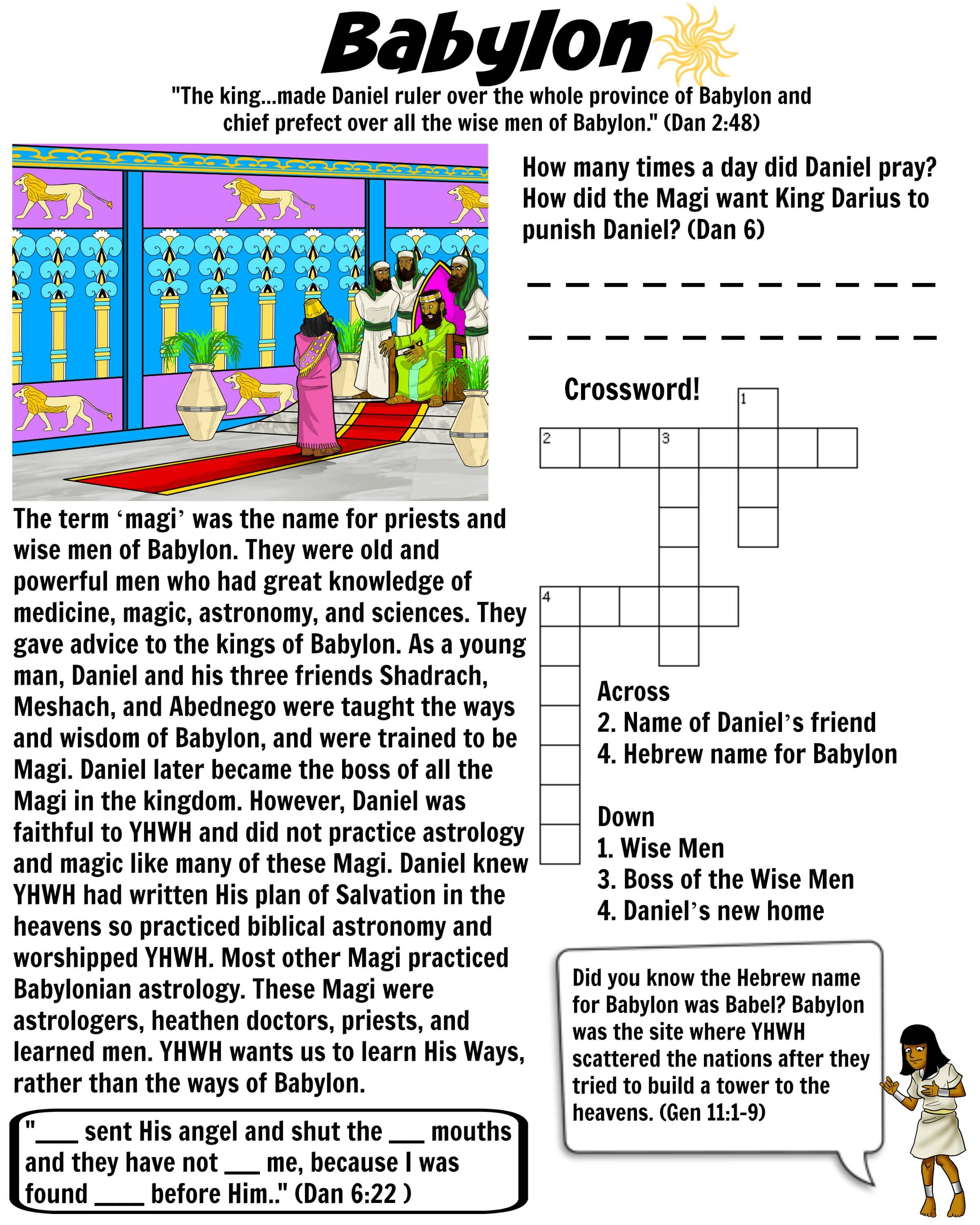 Babylon Worksheet Magi Wise Men Bible Pathway Adventures