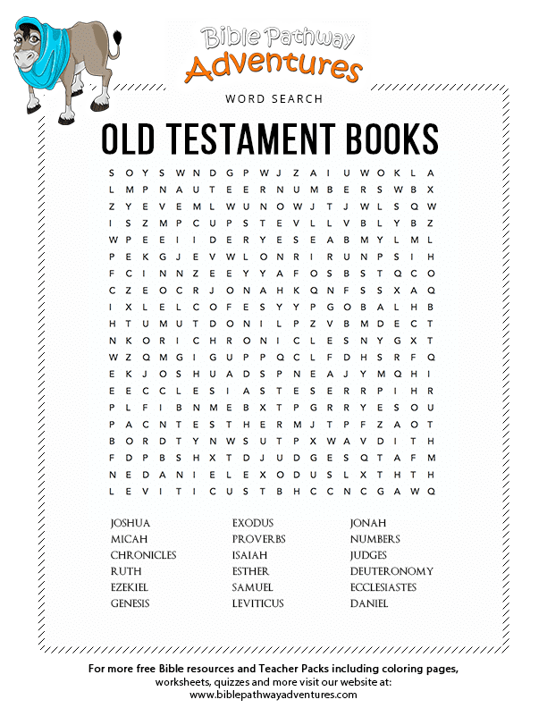 Bible Word Search Old Testament Books Tanakh Free
