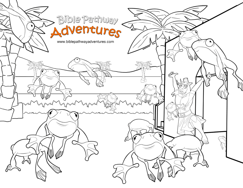 Free Bible Coloring Page Plague Of Frogs