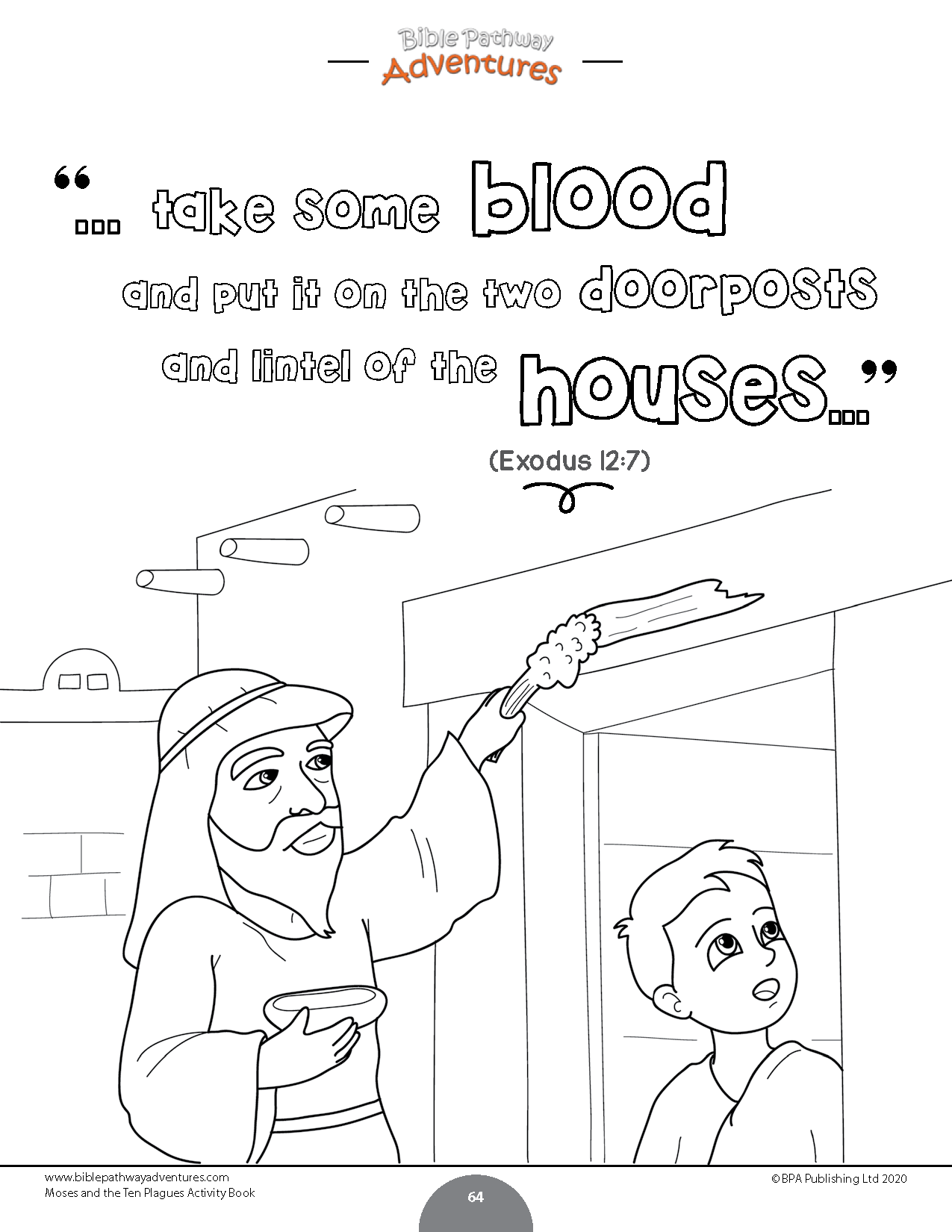 Moses And The Ten Plagues Activity Book Kids Ages 6 12