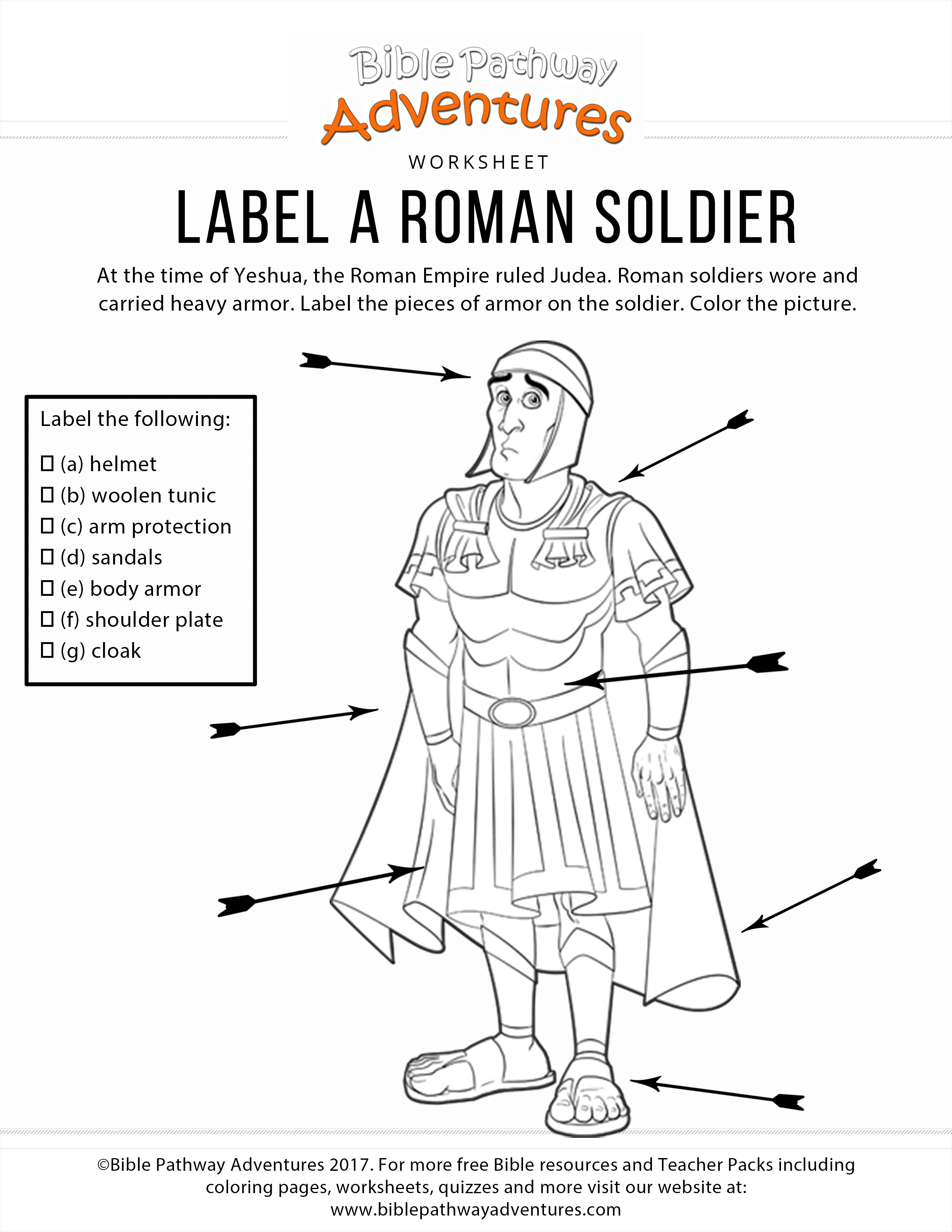 Label A Roman Sol R Coloring Page And Worksheet Bible