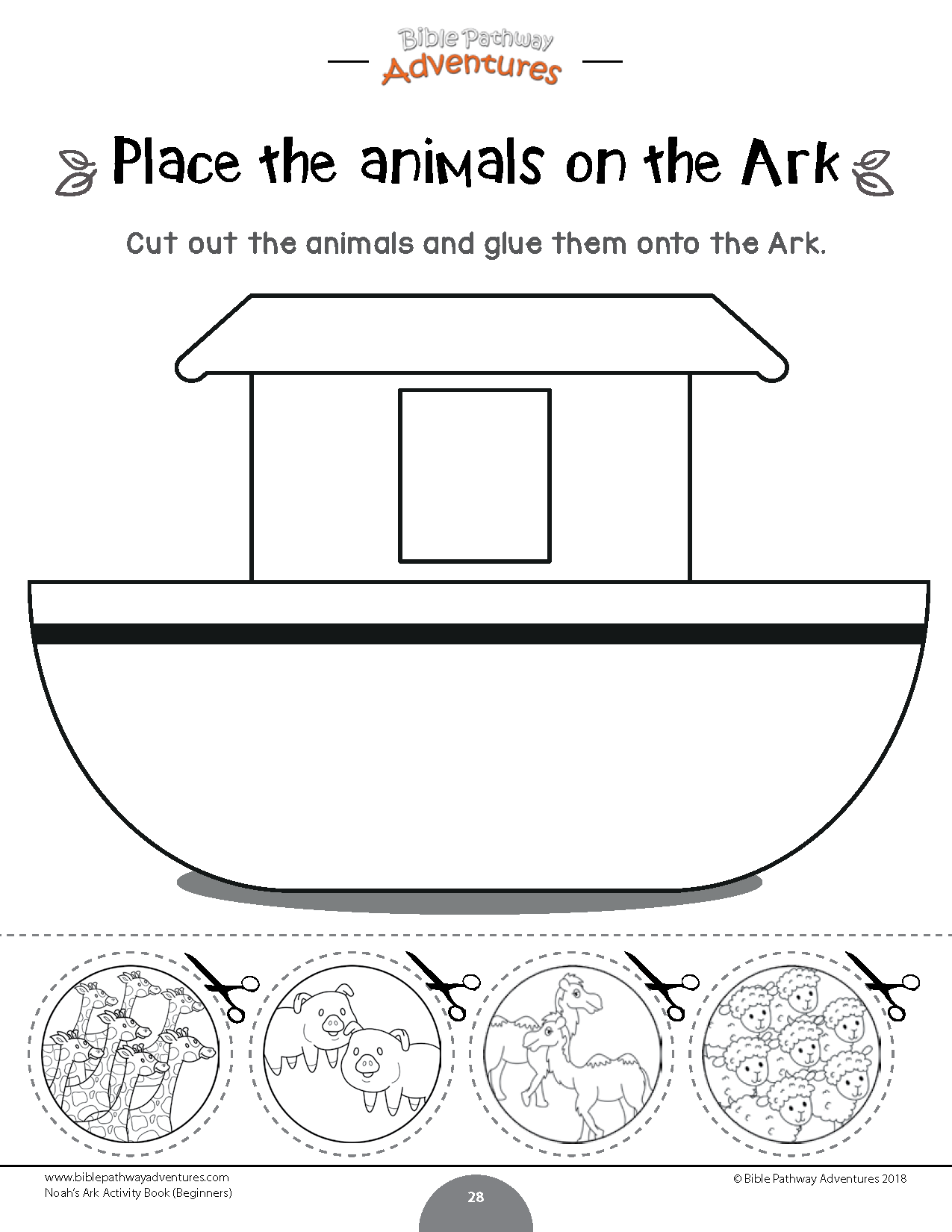 Noah S Ark Activity Book For Beginners Bible Pathway