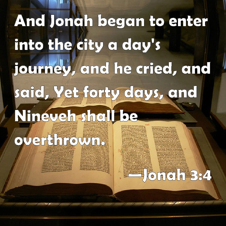Image result for jonah 3:4
