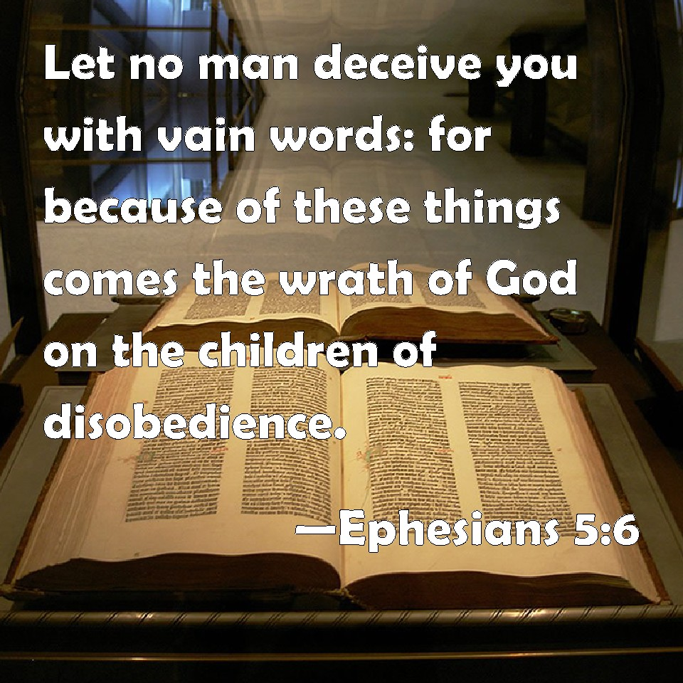 Image result for Ephesians 5:6 pics