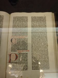 Gutenberg Bible, Lilly Library, Indiana University, Bloomington