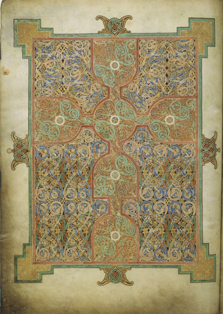 Lindisfarne Gospels, early A.D. 700's