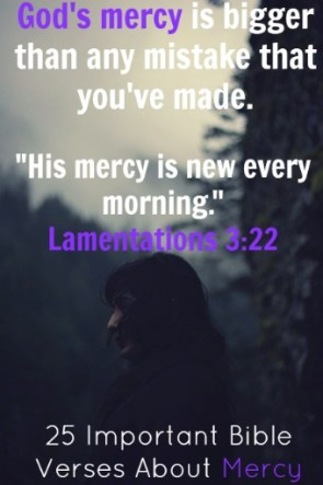25 Important Bible Verses About Mercy