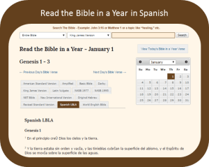 Read the Bible In a Year in Spanish