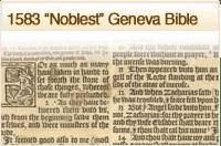 1583 Noblest Geneva Bible