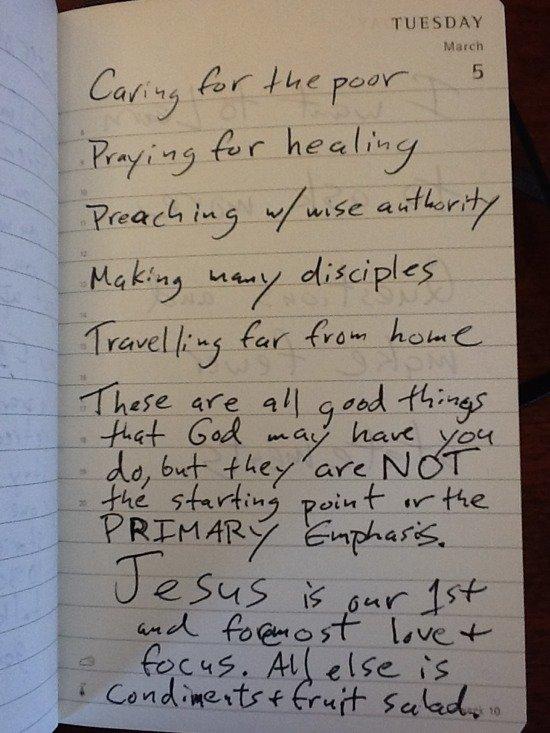 Jesus is primary