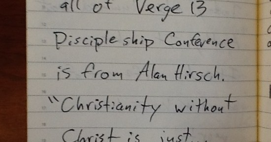 Alan Hirsch Summary of Verge13