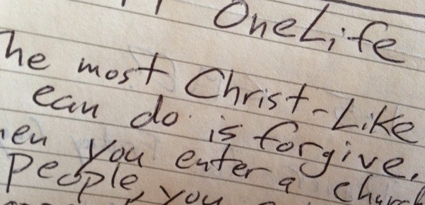 Sermon Notes: One Life 1-26-2014