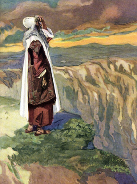 JJ Tissot - Moses Views the Promised Land (Deuteronomy 34).