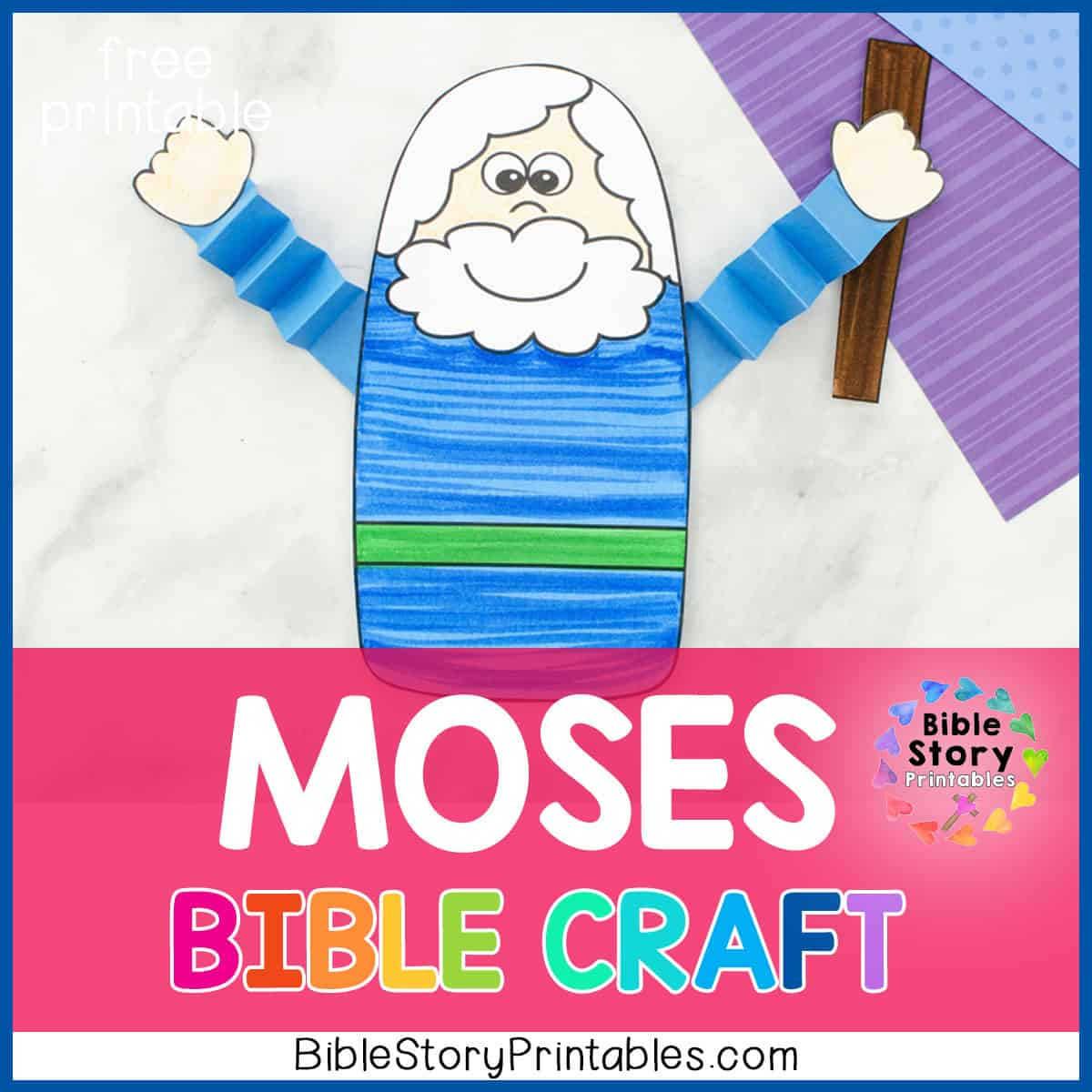 Moses Parts The Red Sea Bible Craft