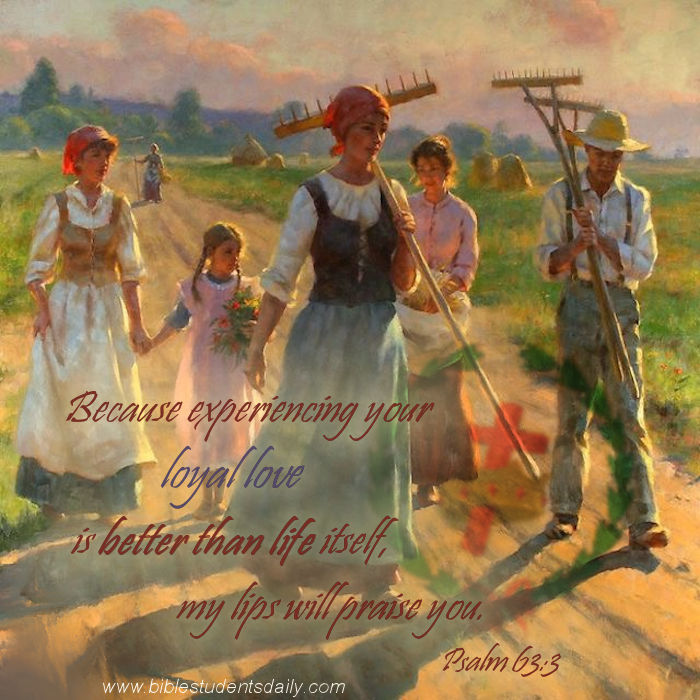 PSALM 63, 3 - WITH CROSS & address