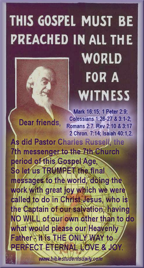 Pastor Russell - C&C