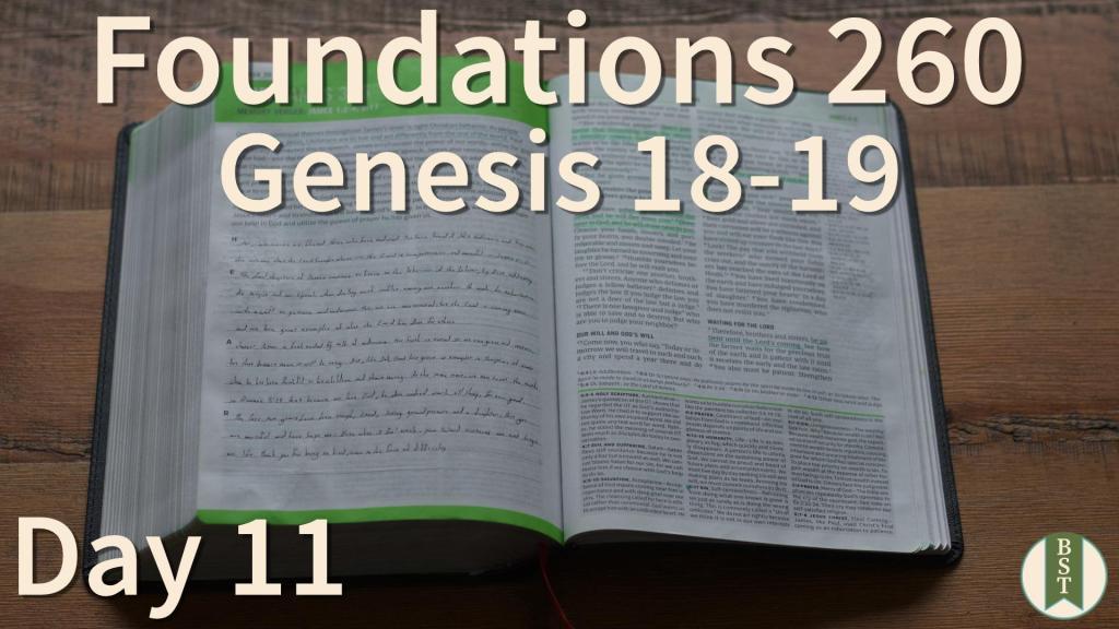 F260 Bible Reading Plan - Day 11