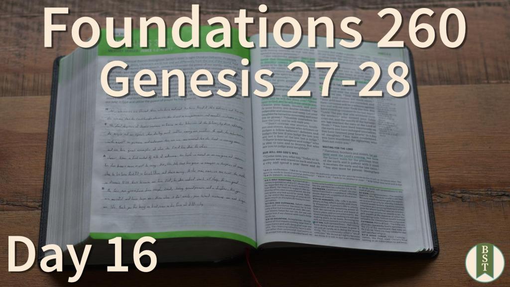 F260 Bible Reading Plan - Day 16