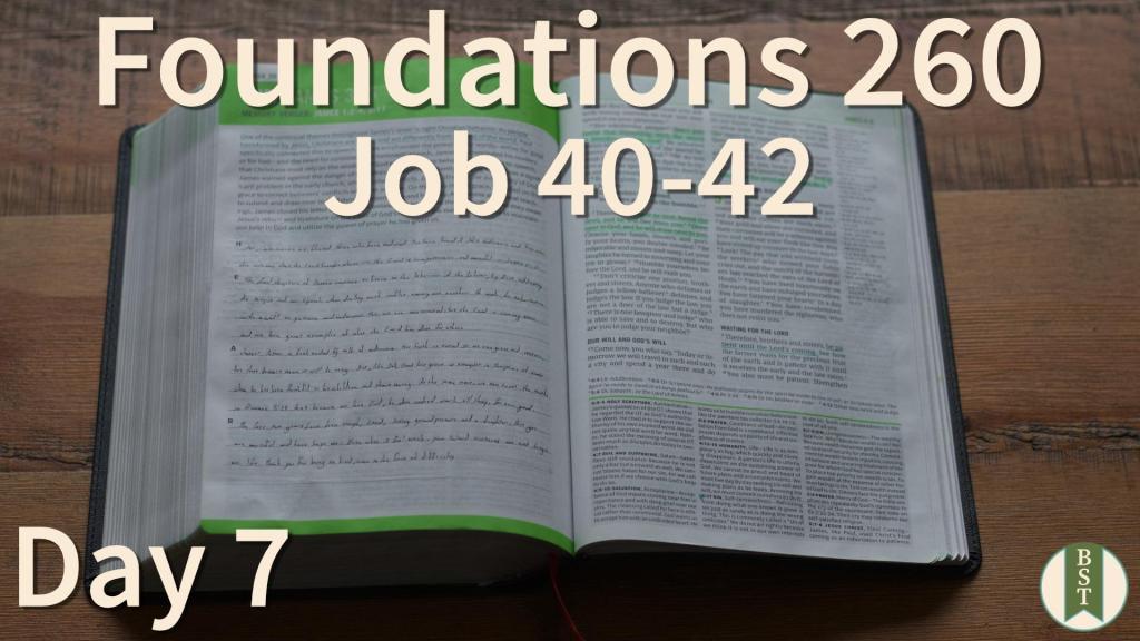 F260 Bible Reading Plan - Day 7