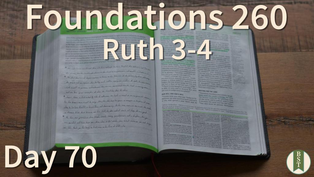 F260 Bible Reading Plan - Day 70