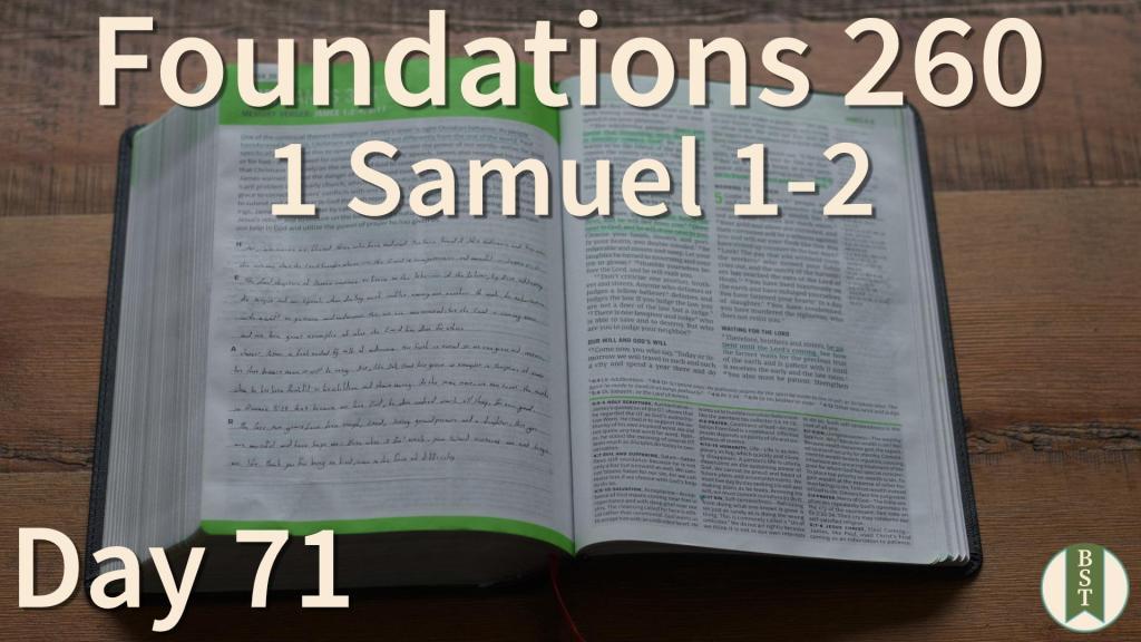 F260 Bible Reading Plan - Day 71