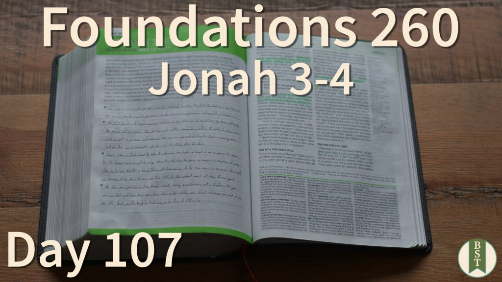 F260 Bible Reading Plan - Day 107