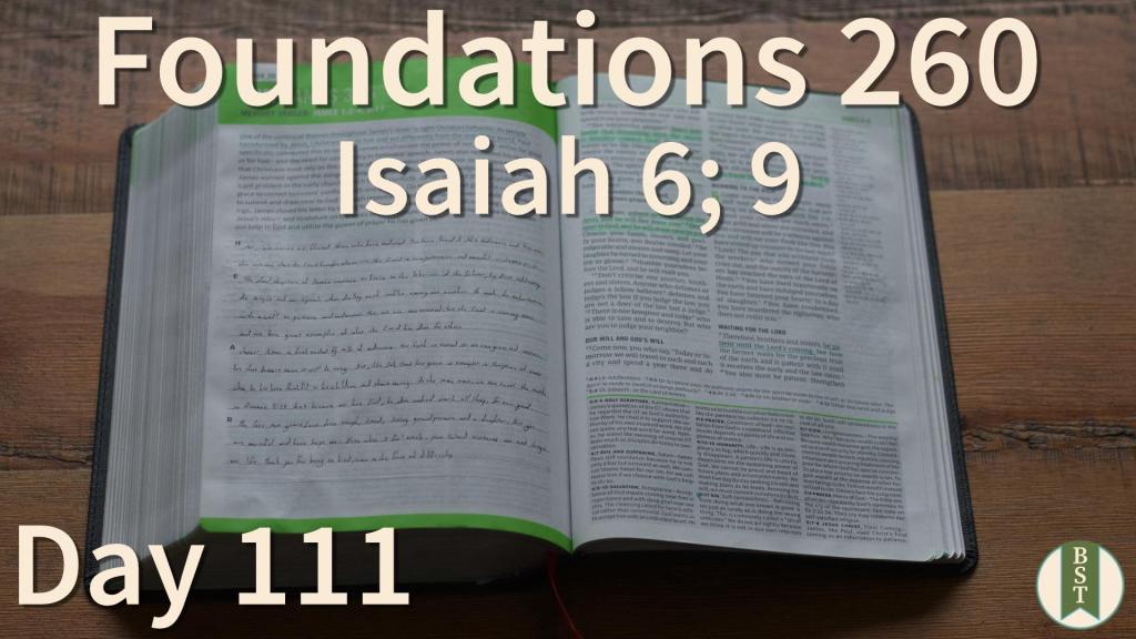 F260 Bible Reading Plan - Day 111