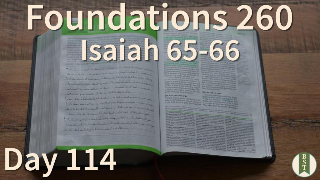 F260 Bible Reading Plan - Day 114