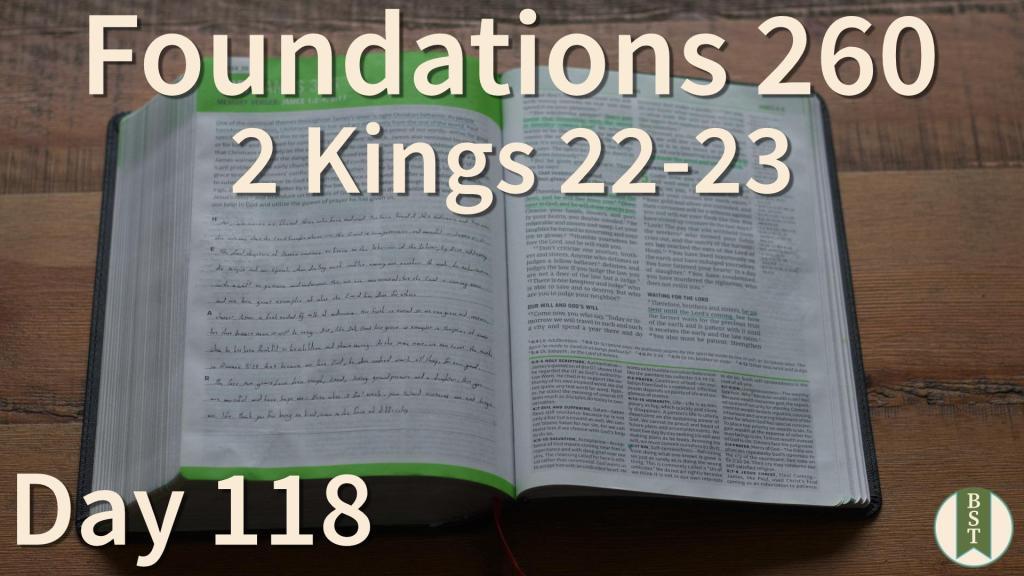 F260 Bible Reading Plan - Day 118