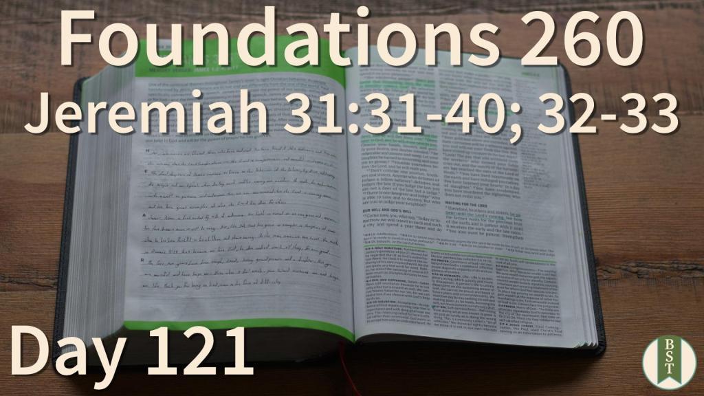 F260 Bible Reading Plan - Day 121
