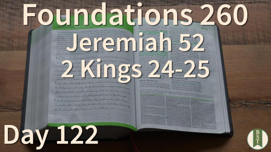 F260 Bible Reading Plan - Day 122