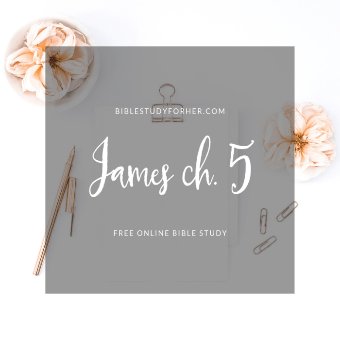 James Chapter Five Online Bible Study