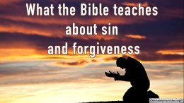 What the Bible teaches about sin and forgiveness