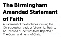Biblical Doctrines 'REJECTED' By The CHRISTADELPHIAN Community - Pt 36