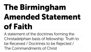Biblical Doctrines Accepted By The CHRISTADELPHIAN Community - INTRODUCTION