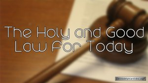 God's Holy Law For Today - Ron Cowie 4 Part Video Bible Study