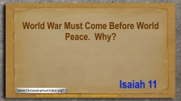 World War Must Come Before World Peace : WHY?.Video post