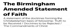 Biblical Doctrines 'REJECTED' By The CHRISTADELPHIAN Community - Pt 26