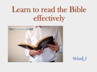 Learn to read the Bible Seminar Video Series