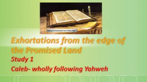 Exhortations From The Edge Of The Promised Land Videos