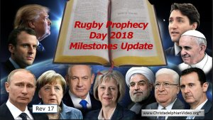 MILESTONES TO THE KINGDOM UPDATE (Rugby Prophecy Day)