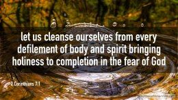 """Thought for March 6th. """"LET US CLEANSE OURSELVES FROM …"""""""