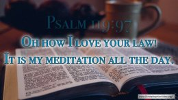 """Thought for March 11th. """"MY MEDITATION ALL THE DAY"""""""