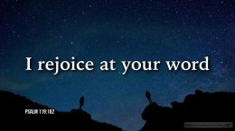 """Thought for March 12th. """"I REJOICE AT YOUR WORD"""""""