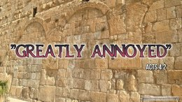 """Thought for April 27th. """"GREATLY ANNOYED"""""""